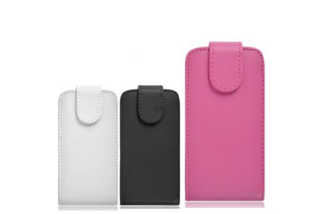 """Фирменный оригинальный вертикальный откидной чехол-флип для Zopo ZP330 Color C"""" черный кожаный"""
