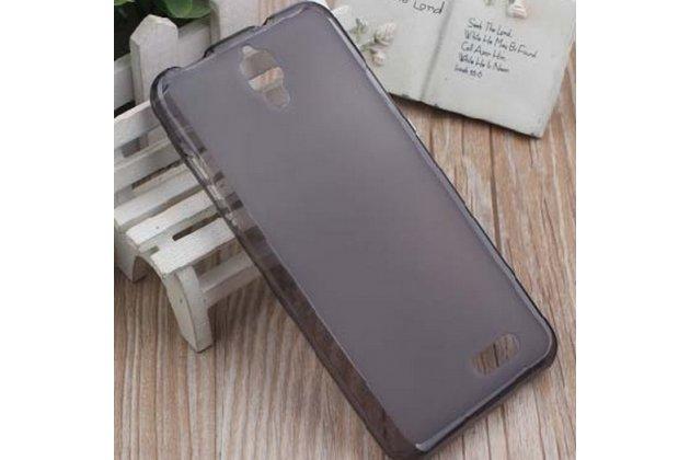 Фирменная ультра-тонкая полимерная из мягкого качественного силикона задняя панель-чехол-накладка для Zopo ZP920  черная