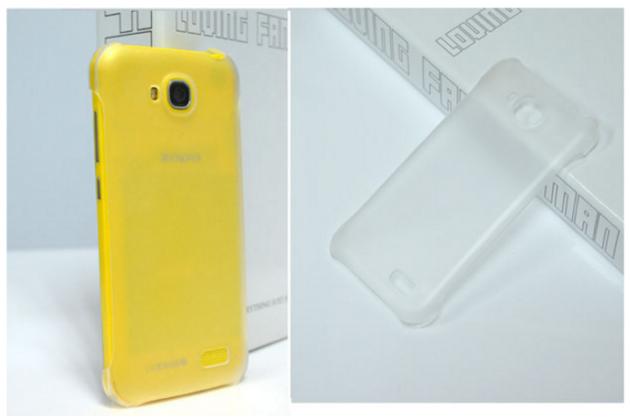 """Фирменная задняя панель-крышка-накладка из тончайшего и прочного пластика для Zopo ZP700"""" белая"""