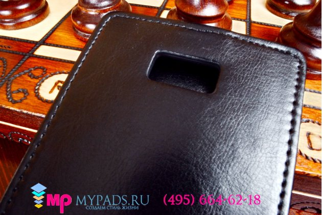 Фирменный оригинальный вертикальный откидной чехол-флип для Zopo ZP950/ZP958 черный кожаный