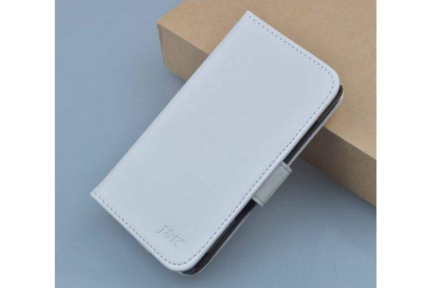 Фирменный чехол-книжка из качественной импортной кожи с мульти-подставкой застёжкой и визитницей для Zopo C2/Zopo ZP980 белый