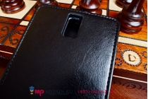 Фирменный оригинальный вертикальный откидной чехол-флип для Zopo ZP998 черный кожаный