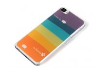 """Фирменная ультра-тонкая полимерная из мягкого качественного силикона задняя панель-чехол-накладка для  Zopo C2""""  тематика """"все цвета радуги"""""""