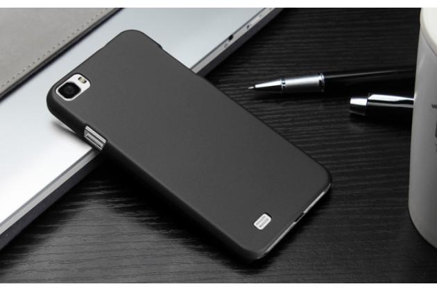 """Фирменная задняя панель-крышка-накладка из тончайшего и прочного пластика для Zopo C2"""" черная"""