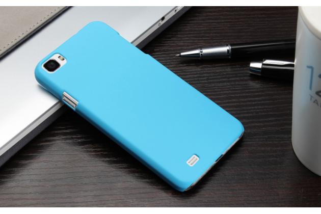 """Фирменная задняя панель-крышка-накладка из тончайшего и прочного пластика для Zopo C2"""" голубая"""