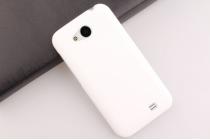 """Фирменная задняя панель-крышка-накладка из тончайшего и прочного пластика для Zopo ZP810"""" белая"""