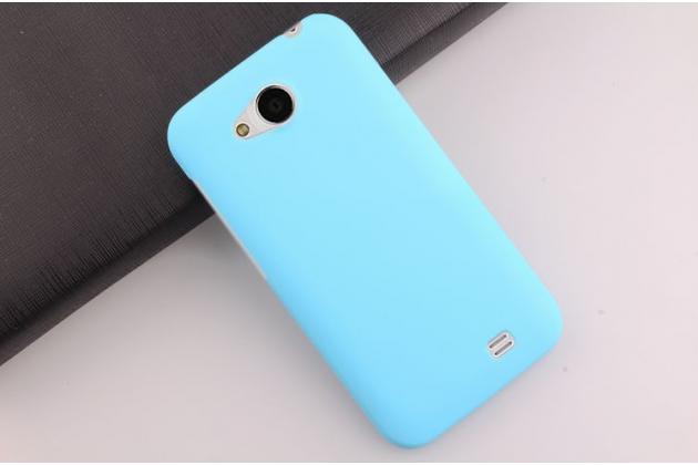 """Фирменная задняя панель-крышка-накладка из тончайшего и прочного пластика для Zopo ZP810"""" голубая"""