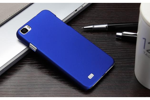 """Фирменная задняя панель-крышка-накладка из тончайшего и прочного пластика для Zopo ZP980 16Gb"""" синяя"""