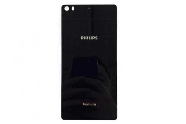 Родная оригинальная задняя крышка-панель которая шла в комплекте для Philips Xenium X818 / Philips X818 черная