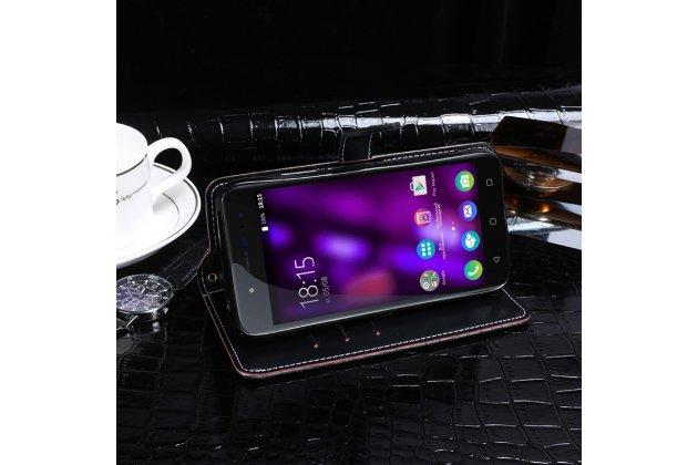 Фирменный роскошный эксклюзивный чехол с фактурной прошивкой рельефа кожи крокодила и визитницей коричневый для Huawei Mate 20 Pro / Mate 20 RS 6.39. Только в нашем магазине. Количество ограничено