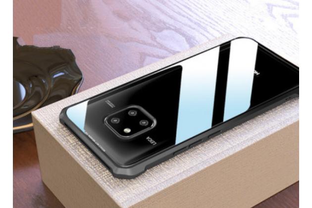 Фирменный ультра-тонкий металлический чехол-бампер для Huawei Mate 20 6.53 с закаленным стеклом на заднюю крышку телефона черный