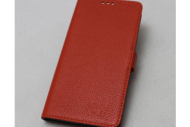 Фирменный премиальный чехол-книжка из качественной импортной кожи с мульти-подставкой и визитницей для Lenovo K8 Note красный