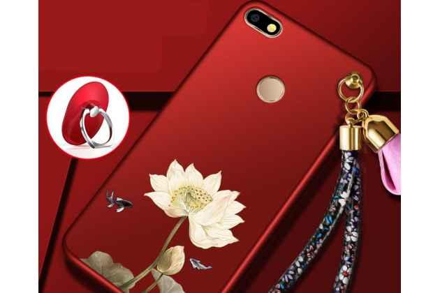 """Фирменная роскошная задняя панель-чехол-накладка  из мягкого силикона с безумно красивым расписным 3D рисунком на Huawei P9 Lite Mini / Huawei Y6 Pro (2017) / Huawei Enjoy 7 """"тематика Цветок лотоса"""""""
