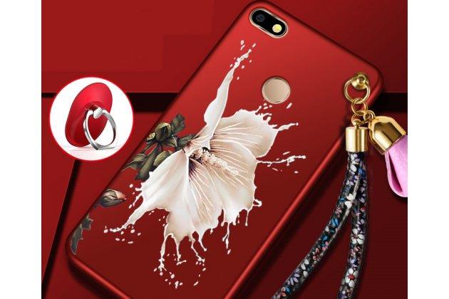 """Фирменная роскошная задняя панель-чехол-накладка  из мягкого силикона с безумно красивым расписным 3D рисунком на Huawei P9 Lite Mini / Huawei Y6 Pro (2017) / Huawei Enjoy 7 """"тематика Цветок"""""""