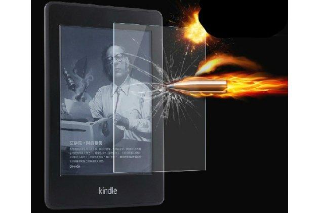 Фирменное защитное закалённое противоударное стекло для Amazon Kindle 5 / Amazon Kindle 4 Wi-Fi из качественного японского материала премиум-класса с олеофобным покрытием