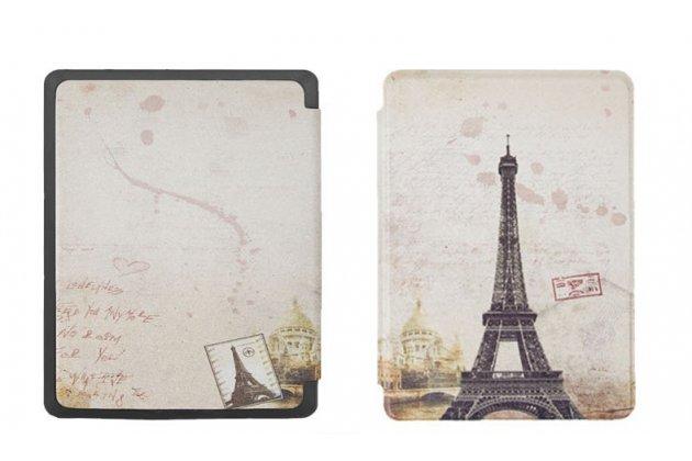 Фирменный необычный чехол для Amazon Kindle 5 / Amazon Kindle 4 Wi-Fi тематика Париж