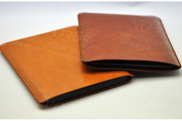 Премиальный чехол-сумка-карман с логотипом для Amazon Kindle 5 / Amazon Kindle 4 Wi-Fi из натуральной кожи коричневый