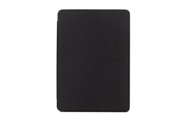 Фирменный чехол-футляр-книжка с логотипом для Amazon Kindle 5 / Amazon Kindle 4 Wi-Fi черный пластиковый