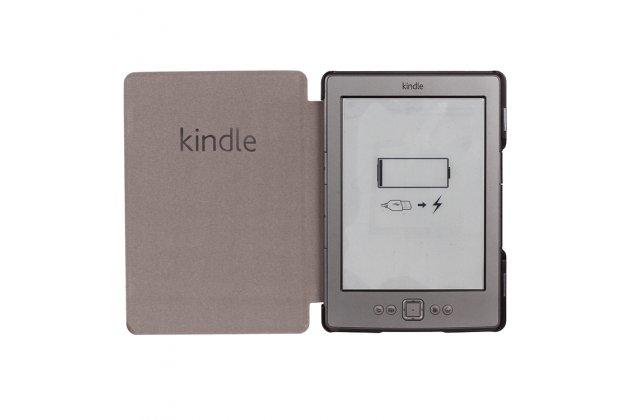 Фирменный чехол-футляр-книжка с логотипом для Amazon Kindle 5 / Amazon Kindle 4 Wi-Fi зеленый пластиковый