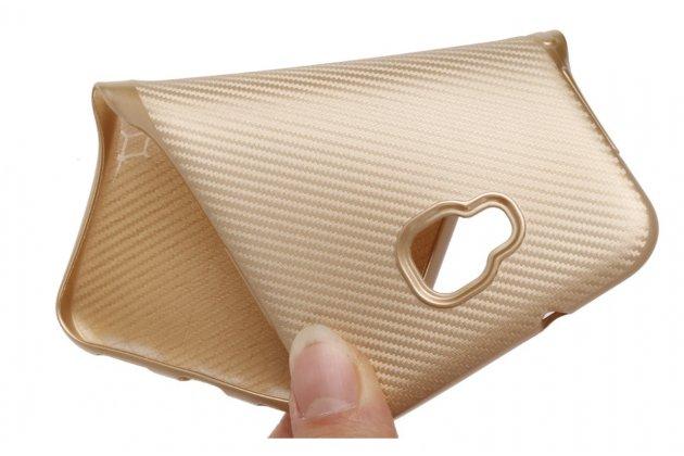 Фирменная ультра-тонкая полимерная из мягкого качественного силикона с дизайном под Карбон задняя панель-чехол-накладка для ASUS ZenFone Live ZB553KL (5G082RU) 5.5 / Android 7.0 черная