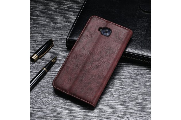 Фирменный чехол-книжка из качественной импортной кожи с мульти-подставкой и визитницей для ASUS ZenFone Live ZB553KL (5G082RU) 5.5 / Android 7.0 серый