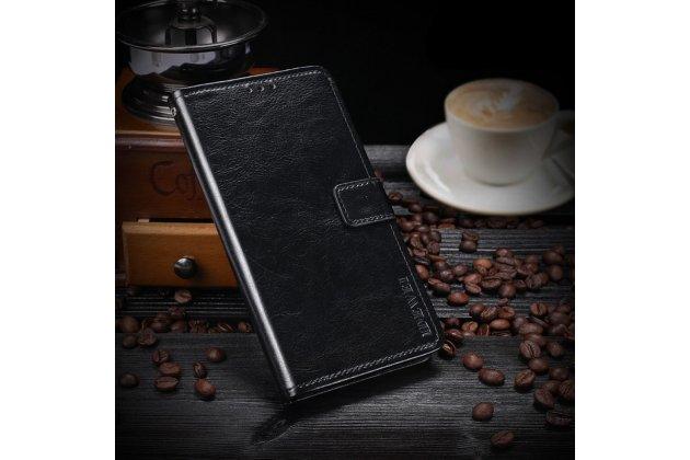 Фирменный чехол-книжка из качественной импортной кожи с подставкой застёжкой и визитницей для ASUS ZenFone Live ZB553KL (5G082RU) 5.5 / Android 7.0 черный