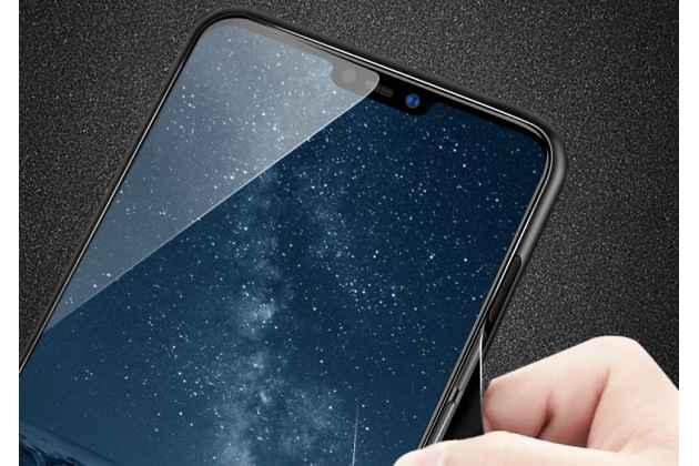 """Фирменный ультра-тонкий силиконовый чехол-бампер для Huawei Nova 3 с закаленным стеклом на заднюю крышку телефона """"тематика Звездное небо"""""""
