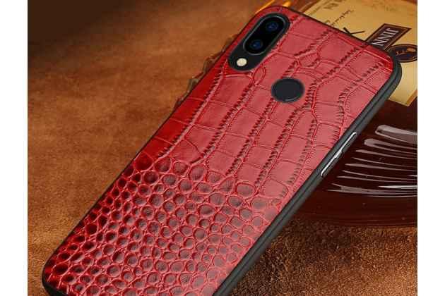 Фирменная элегантная экзотическая задняя панель-крышка с фактурной отделкой натуральной кожи крокодила красного цвета для Huawei Nova 3 . Только в нашем магазине. Количество ограничено.