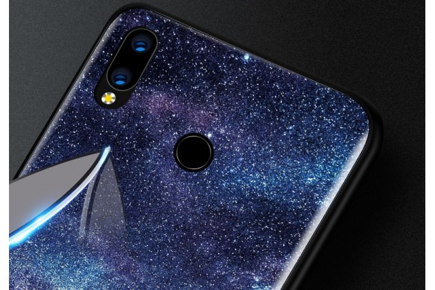 """Фирменный ультра-тонкий силиконовый чехол-бампер для Huawei Nova 3 с закаленным стеклом на заднюю крышку телефона """"тематика Лось"""""""