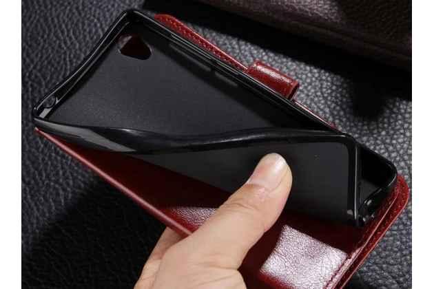 Фирменный чехол-книжка из качественной импортной кожи с подставкой застёжкой и визитницей для Huawei Nova 3 розовый