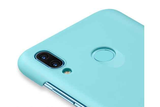 Фирменная задняя панель-крышка-накладка с логотипом из тончайшего и прочного пластика для Huawei Nova 3 голубая