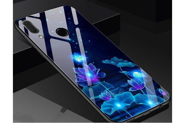 """Фирменный ультра-тонкий силиконовый чехол-бампер для Huawei Nova 3 с закаленным стеклом на заднюю крышку телефона """"тематика Цветы"""""""