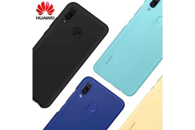Фирменная задняя панель-крышка-накладка из тончайшего и прочного пластика с логотипом для Huawei Nova 3 синяя
