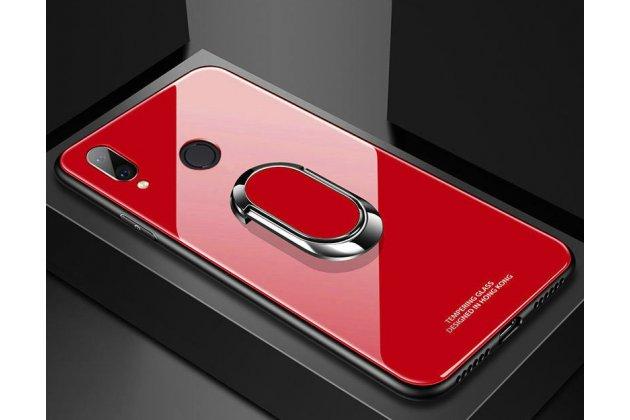 Фирменный ультра-тонкий силиконовый чехол-бампер для Huawei Nova 3 с закаленным стеклом на заднюю крышку телефона красный