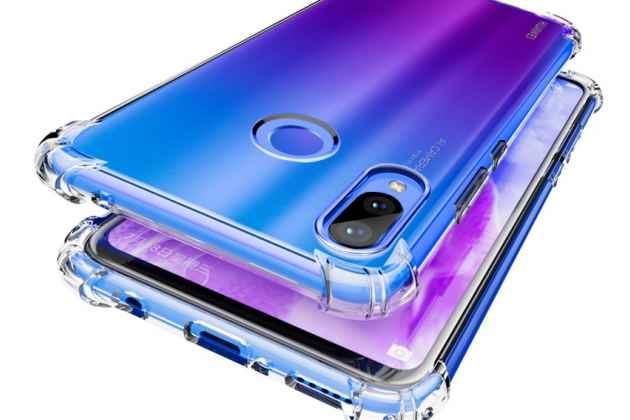 Фирменная задняя панель-чехол-накладка с защитными заглушками с защитой боковых кнопок для Huawei Nova 3 прозрачная