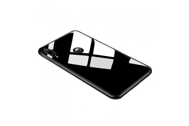 Фирменный ультра-тонкий силиконовый чехол-бампер для Huawei Nova 3 с закаленным стеклом на заднюю крышку телефона черный