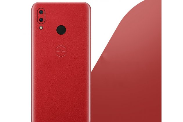Оригинальная эксклюзивная задняя кожаная наклейка (из натуральной кожи) для Huawei Nova 3 красная