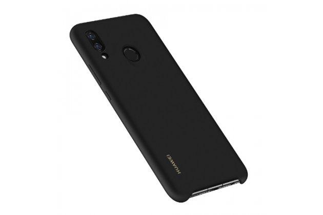 Фирменная ультра-тонкая полимерная из мягкого качественного силикона задняя панель-чехол-накладка с логотипом для Huawei Nova 3 черная