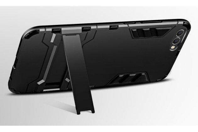 Противоударный усиленный ударопрочный фирменный чехол-бампер-пенал для Huawei Honor V10 / Honor View 5.99 (BKL-AL20) золотой