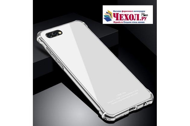Фирменная металлическая задняя панель-крышка-накладка из тончайшего облегченного авиационного алюминия для Huawei Honor V10 / Honor View 5.99 (BKL-AL20) белая