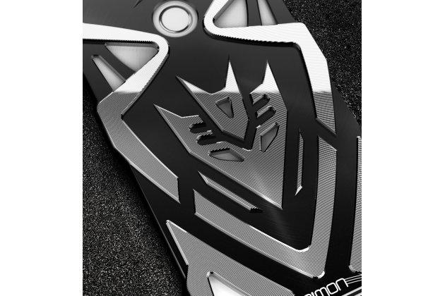Противоударный металлический чехол-бампер из цельного куска металла с усиленной защитой углов и необычным экстремальным дизайном  для  Huawei Honor V10 / Honor View 5.99 (BKL-AL20) черного цвета