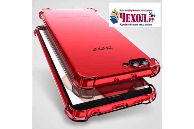 Фирменная ультра-тонкая полимерная из мягкого качественного силикона задняя панель-чехол-накладка для Huawei Honor V10 / Honor View 5.99 (BKL-AL20) красная