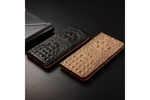 Фирменный роскошный эксклюзивный чехол с объёмным 3D изображением рельефа кожи крокодила коричневый для Huawei Honor V10 / Honor View 5.99 (BKL-AL20) Только в нашем магазине. Количество ограничено