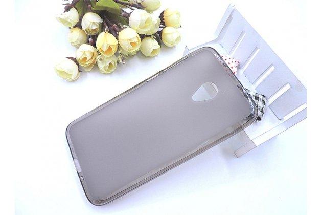 Фирменная ультра-тонкая полимерная из мягкого качественного силикона задняя панель-чехол-накладка для Alcatel U5 HD 5047D серая