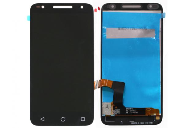 Фирменный LCD-ЖК-сенсорный дисплей-экран-модуль запчасть в сборе с тачскрином на телефон Alcatel U5 HD 5047D черный + гарантия