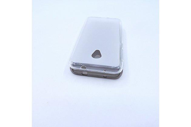 Фирменная ультра-тонкая полимерная из мягкого качественного силикона задняя панель-чехол-накладка для Alcatel U5 HD 5047D белая
