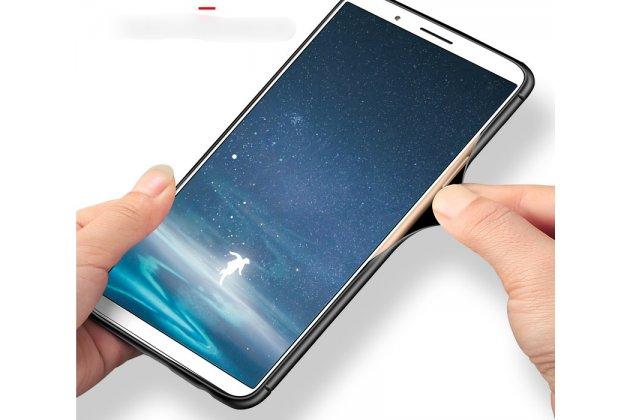 Фирменная ультра-тонкая полимерная из мягкого качественного силикона задняя панель-чехол-накладка для Oppo A79 синяя