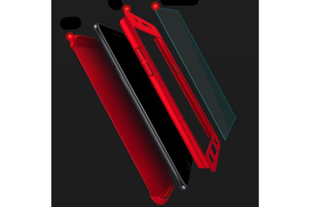 Фирменный уникальный чехол-бампер-панель с полной защитой дисплея и телефона по всем краям и углам для Oppo A79 черный
