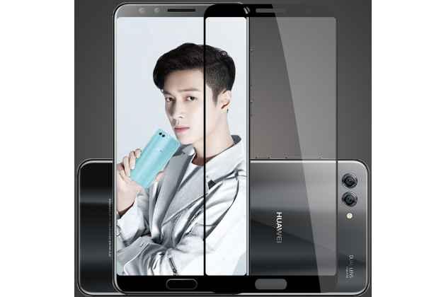Фирменное 3D защитное изогнутое стекло с закругленными изогнутыми краями которое полностью закрывает экран / дисплей по краям с олеофобным покрытием для Huawei Nova 2S (HWI-AL00)