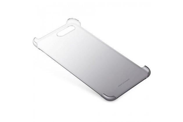 Фирменная задняя панель-крышка-накладка из тончайшего и прочного пластика для Huawei Nova 2S (HWI-AL00) прозрачная черная